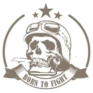 BORN TO FIGHT  - wüstenfarbe tarnung limitierte auflage